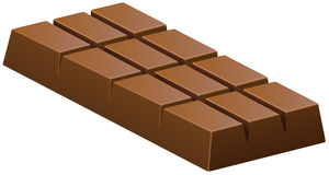 Milk chocolate bar on white Royalty Free Stock Image