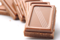 Milk chocolate bars Royalty Free Stock Photography