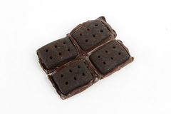 Milk Chocolate Biscuits Royalty Free Stock Photos