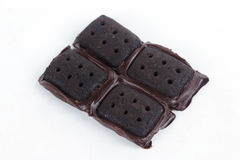 Milk Chocolate Biscuits Stock Photo