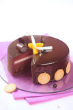 Milk Chocolate, Black Currant and Spiced Tangerine Entremet Cake Stock Image