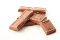 Milk chocolate blocks Royalty Free Stock Photo