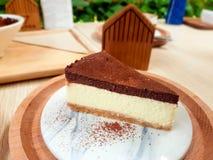 Milk chocolate cake. Milk chocolate cake so yummy Stock Images
