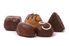 Milk chocolate candies Royalty Free Stock Photography