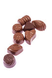 Milk chocolate candies Stock Image