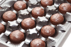 Milk chocolate candies Stock Photography