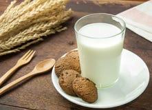 Milk and chocolate chip Stock Image