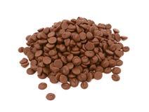 Milk chocolate chips Stock Photo