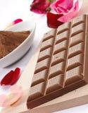 Milk chocolate, closeup Stock Photography