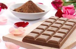 Milk chocolate, closeup Stock Photo