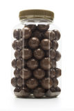 Milk chocolate coated nuts stock photos