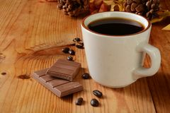 Milk chocolate and coffee Royalty Free Stock Images