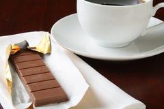 Milk chocolate and coffee Stock Photography