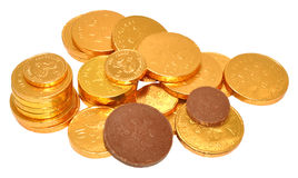 Milk Chocolate Coins Royalty Free Stock Image