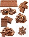 Milk chocolate collection Stock Photos