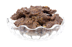 Milk chocolate cornflake clusters in dish Stock Photography