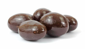 Milk chocolate covered almonds Royalty Free Stock Image
