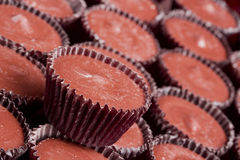 Milk chocolate cups Royalty Free Stock Image