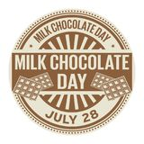 Milk Chocolate Day, July 28. Rubber stamp, vector Illustration Royalty Free Illustration