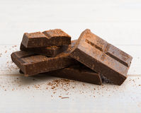 Milk chocolate dusted with cocoa Stock Image