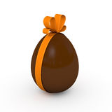 Milk Chocolate Easter Egg Royalty Free Stock Images