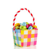 Milk chocolate easter eggs Stock Images