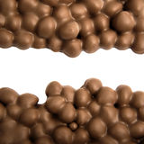 Milk chocolate with filbert nuts. Stock Image