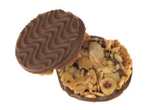 Milk Chocolate Florentines Biscuits Royalty Free Stock Photography