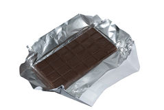 Milk chocolate with foil. Stock Image