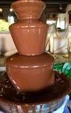 Milk Chocolate Fountain stock photo