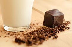Milk and chocolate Royalty Free Stock Photography