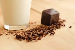 Milk and chocolate Royalty Free Stock Photos