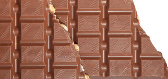 Milk Chocolate with nuts Stock Photos
