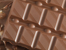Milk Chocolate with nuts Royalty Free Stock Image