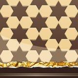 Milk Chocolate pattern. Vector Illustration Stock Photo