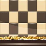 Milk Chocolate pattern. Vector Illustration Royalty Free Stock Image