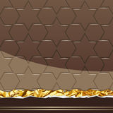 Milk Chocolate pattern. Vector Illustration Royalty Free Stock Images