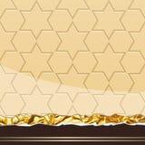 Milk Chocolate pattern. Vector Illustration Stock Photos