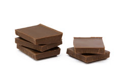 Milk chocolate pieces Royalty Free Stock Images