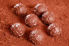 Milk Chocolate Pralines Stock Photography