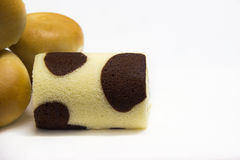 MILK CHOCOLATE ROLL. Stock Photo