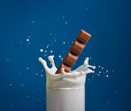 Milk and chocolate. Royalty Free Stock Photography