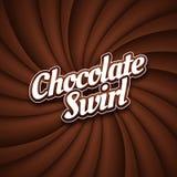 Milk chocolate swirl background Royalty Free Stock Images