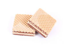 Milk and chocolate wafers Royalty Free Stock Photos