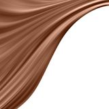 Milk chocolate wave Stock Image