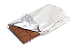 Milk chocolate wrapped Royalty Free Stock Image
