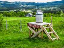 Milk churn in Norway Stock Images