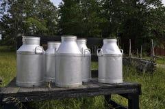 Milk churns Stock Photo