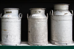 Milk churns Stock Photography