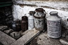 Milk churns Stock Images